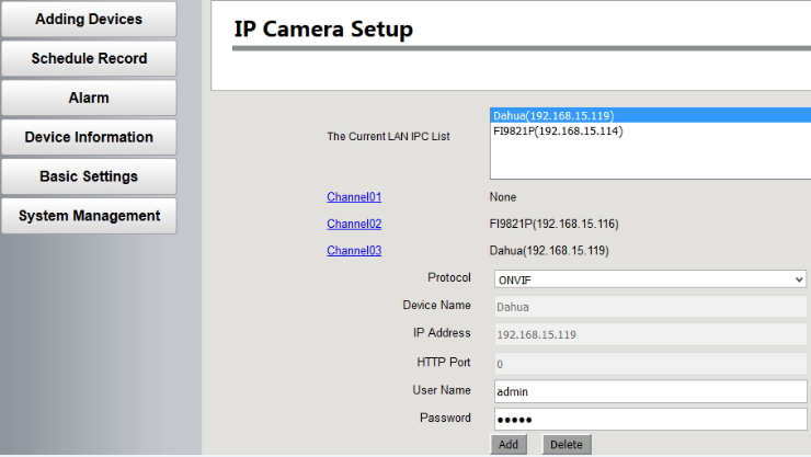 How to add 3rd Party Camera to the Foscam NVR System?-Foscam