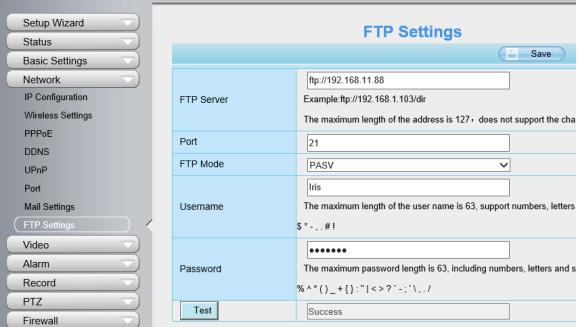 How to set up Foscam camera to use a FTP Server?-Foscam