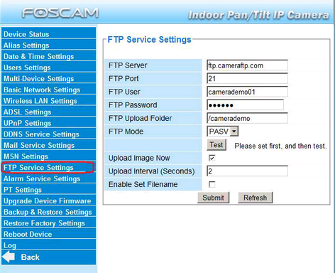 How to set up Foscam camera to use a FTP Server?-Foscam Support - FAQs