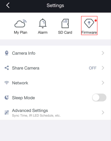 How to update the camera's firmware using the Foscam app?-Foscam