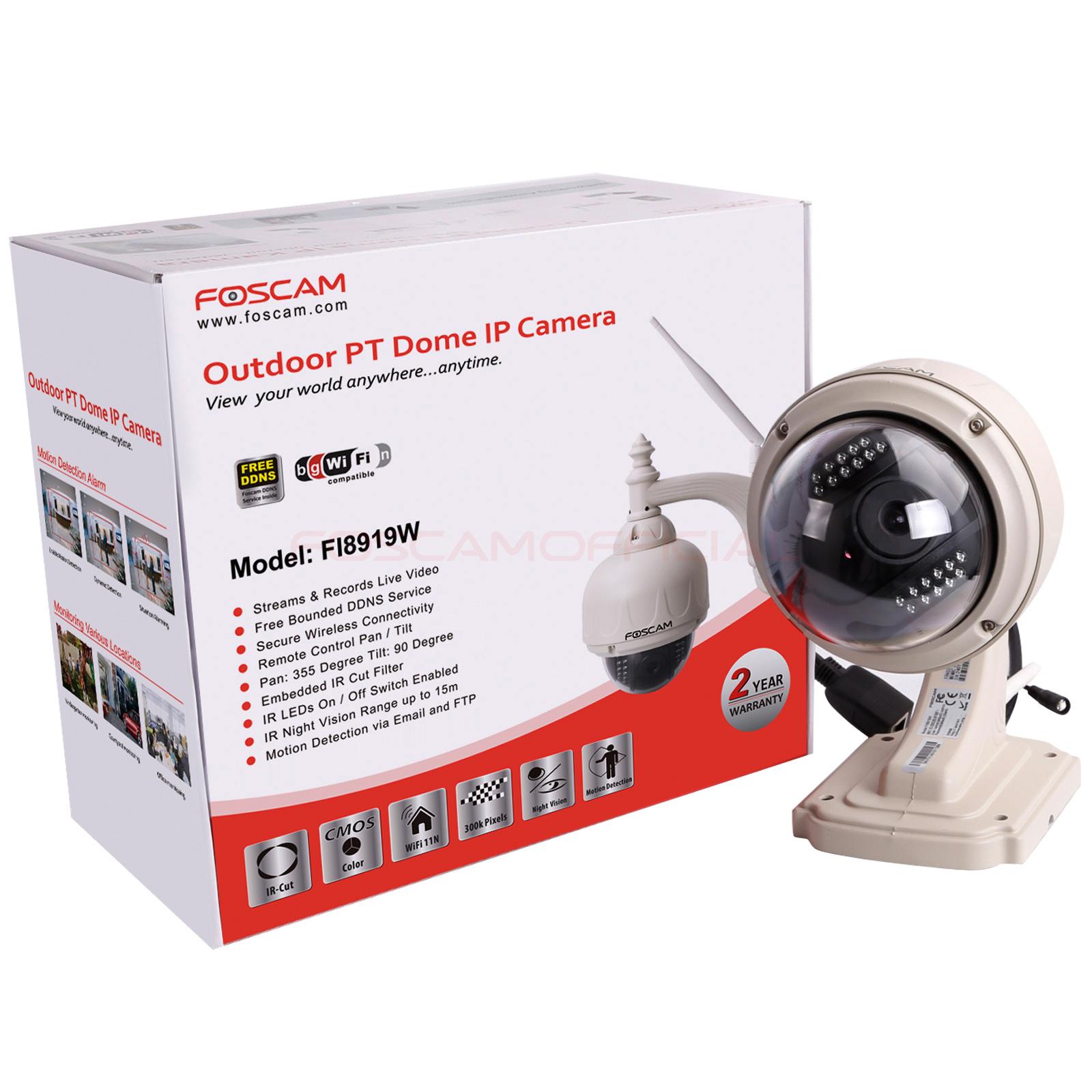 Foscam FI8919W 300K MJPEG Waterproof Pan Tilt Wireless ...